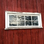 What a beautiful morning reflected in the barn windows hikinghellip