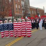 Americana at a small town Ohio Christmas Parade mtvernon ohio
