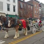 Santa arrives in Mt Vernon at the Christmas Parade mtvernonhellip