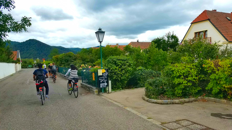 Cycling through the Wachau Valley