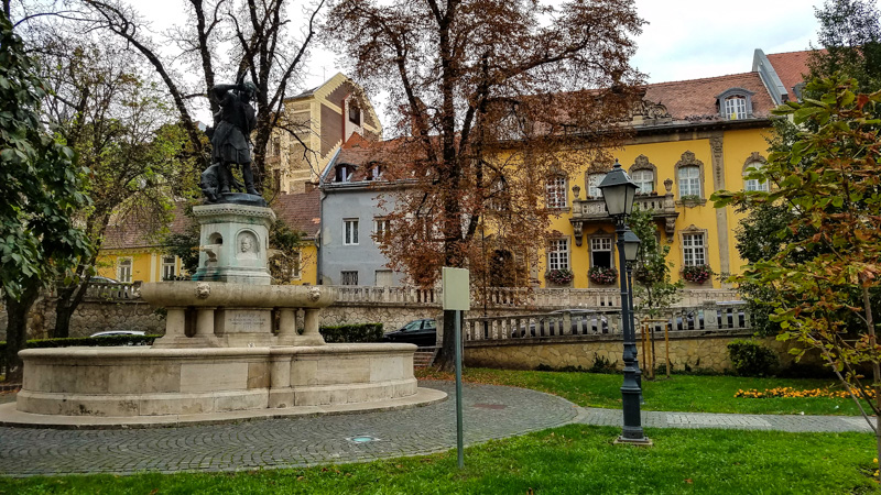 Neighborhood Square on the Buda Side of Budapest