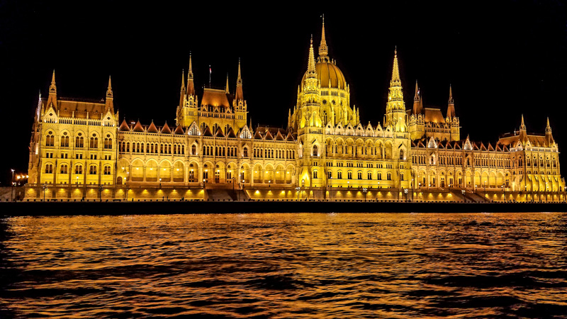 Hungarian Parliament Aglow