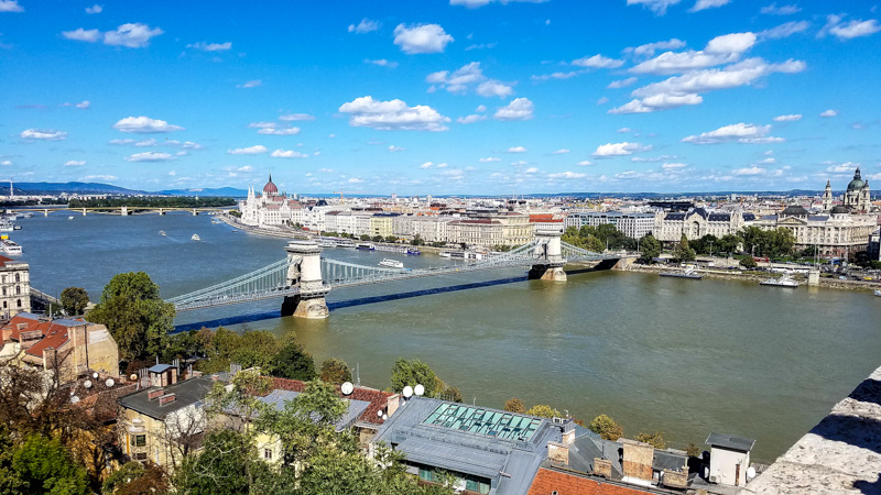 A View across the Danube from the Buda Castle