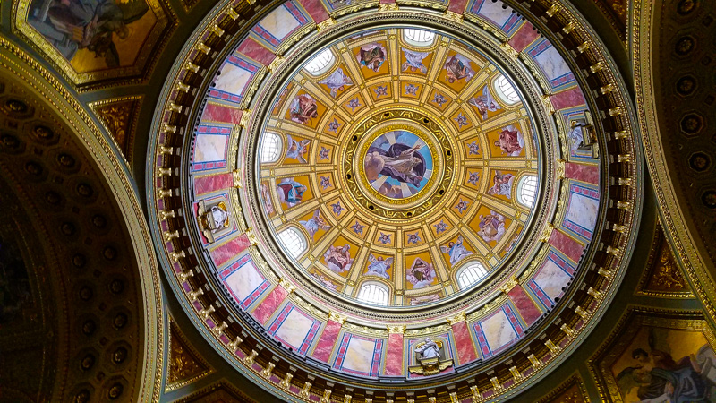 The dome at St. Stephen's Basilica