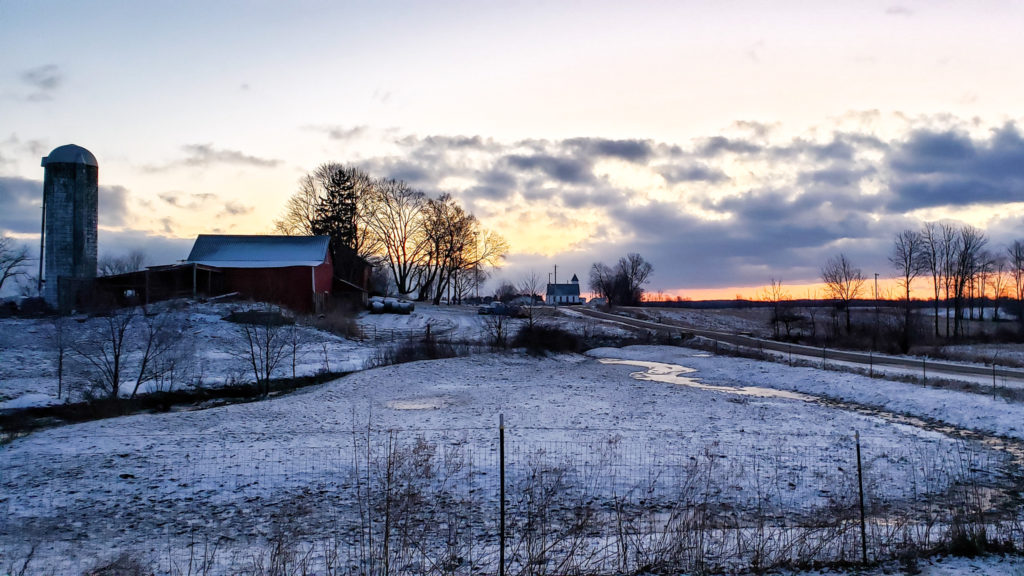 25-January-2019 Winter first light in Miller Township