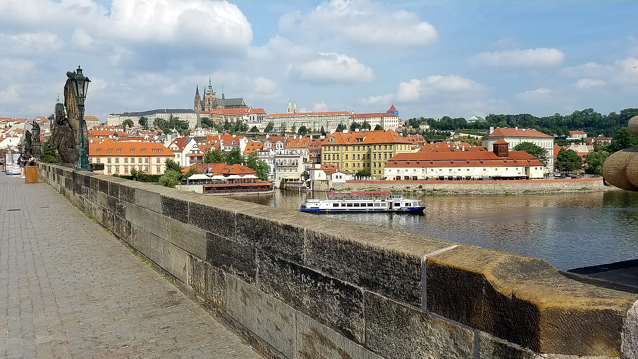 Looking across the Charles Bridge