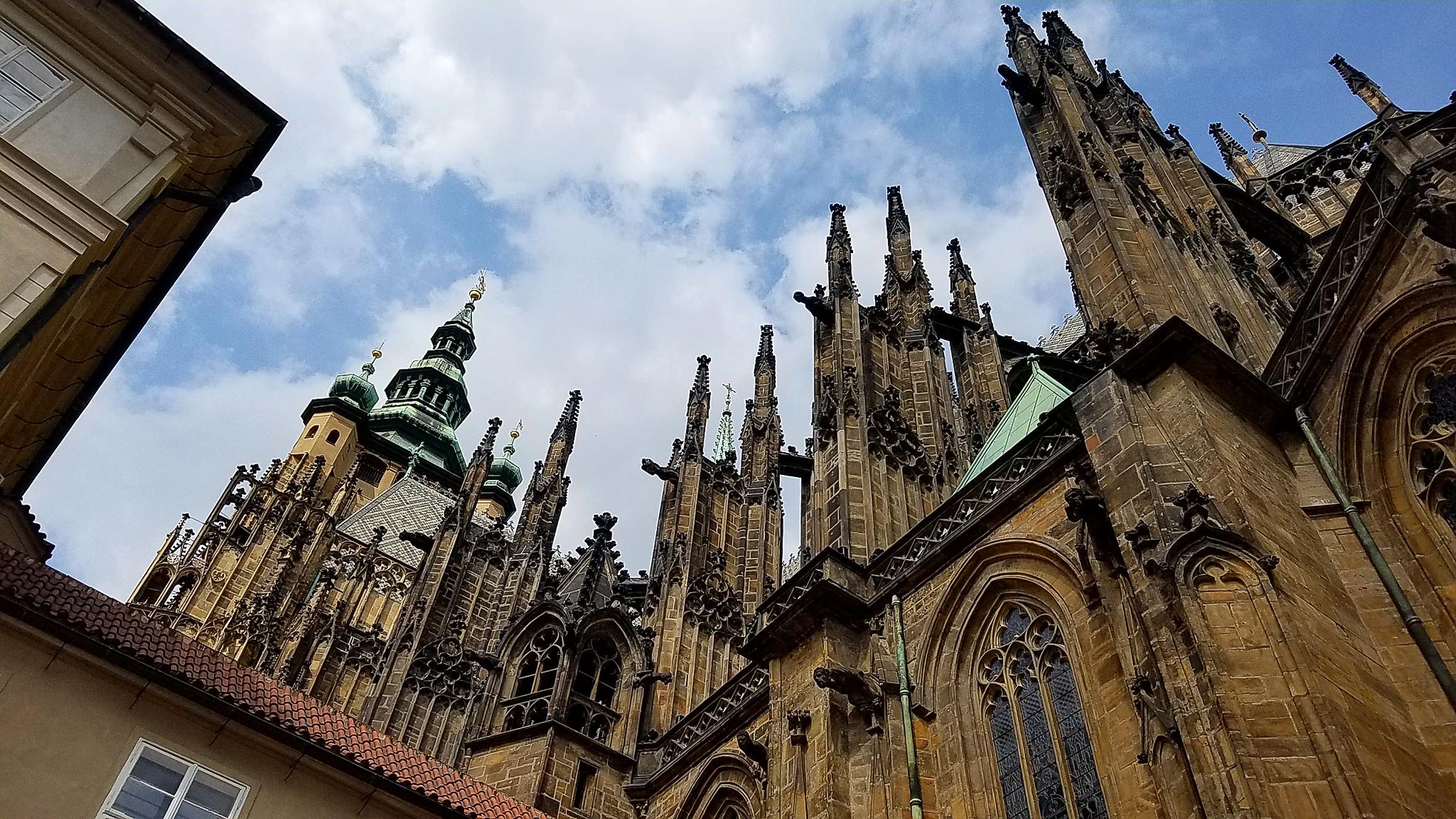 Spires of Katedrála Sv. Víta