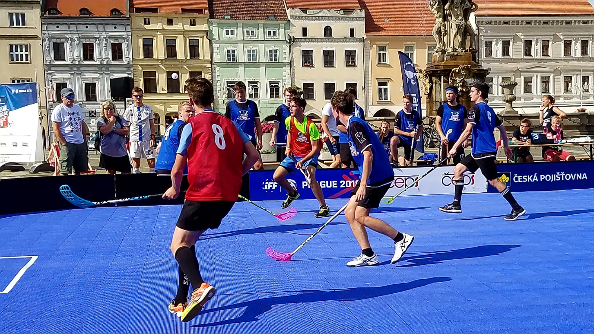 Soccer on the town square