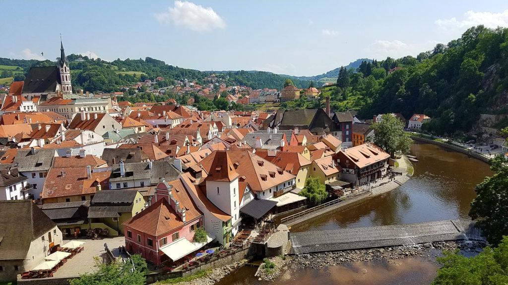 Český Krumlov from the castle