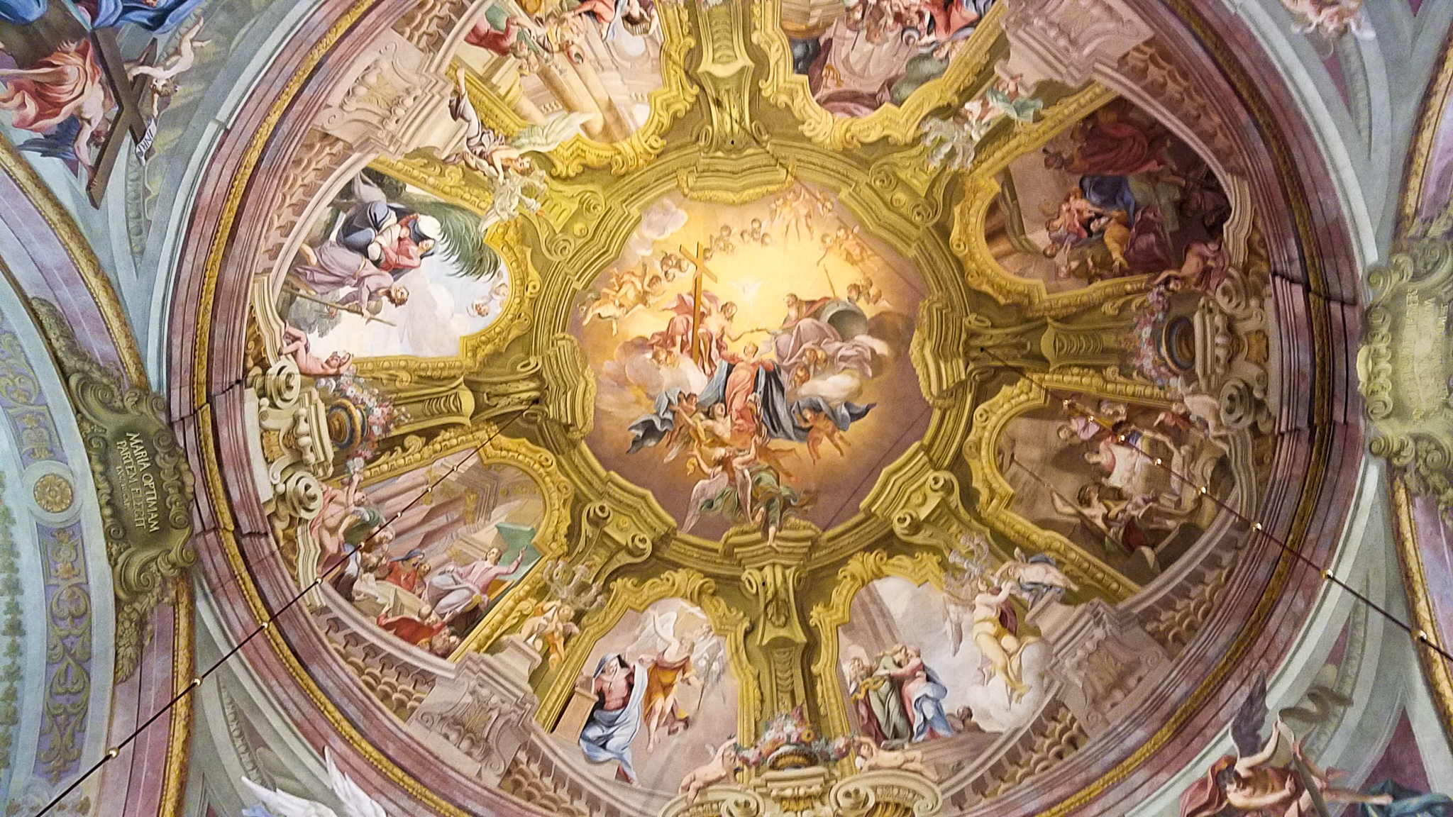 Ceiling of the shrine at Maria Taferl