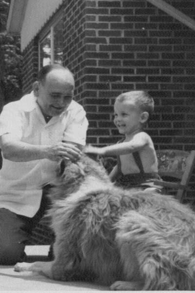 Jokie Bilcze, Joe Bilcze, and Laddie, 1953